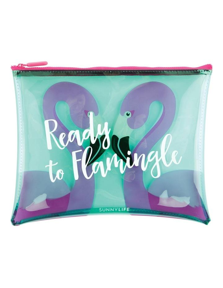 Flamingo See Through Pouch Bag image 1