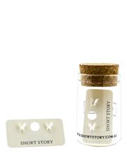 Short Story - Funky Play Earrings Butterfly Silver