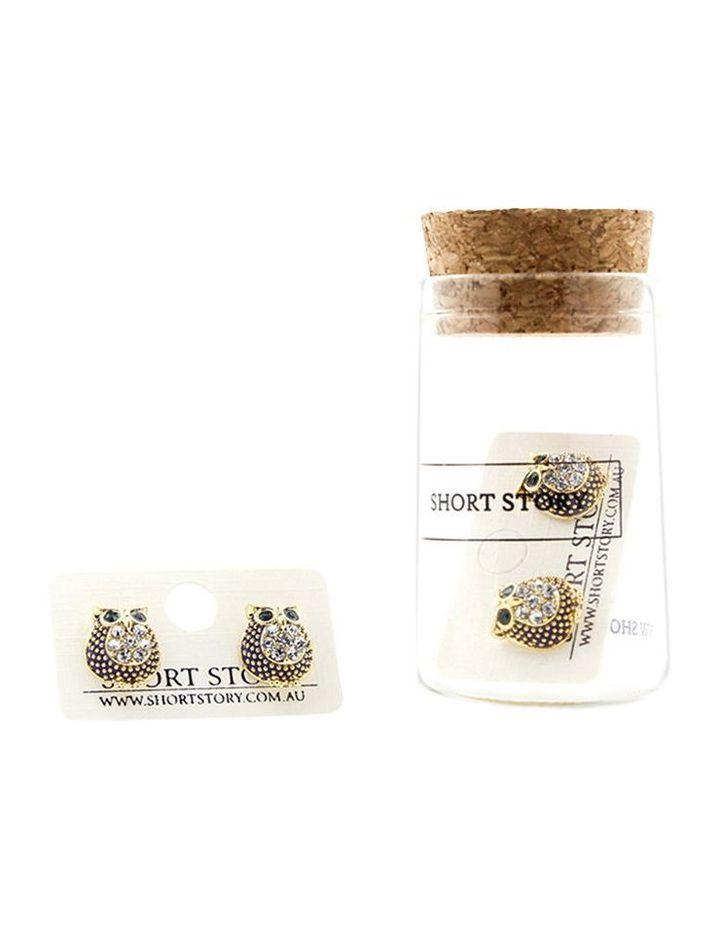 Fancy Play Earrings Owls Navy image 1