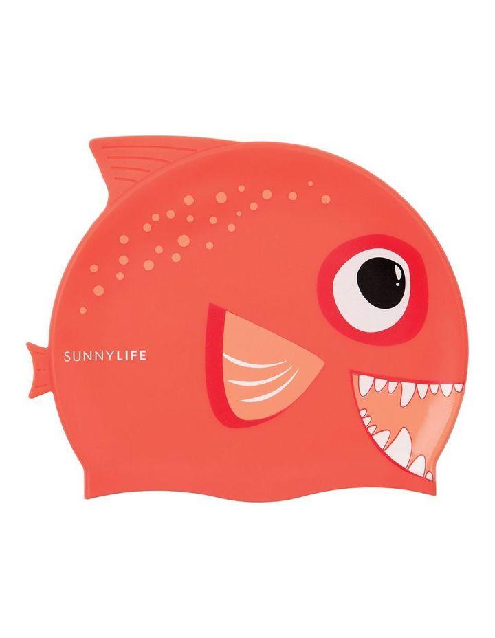 Swimming Cap Fishy Red image 1