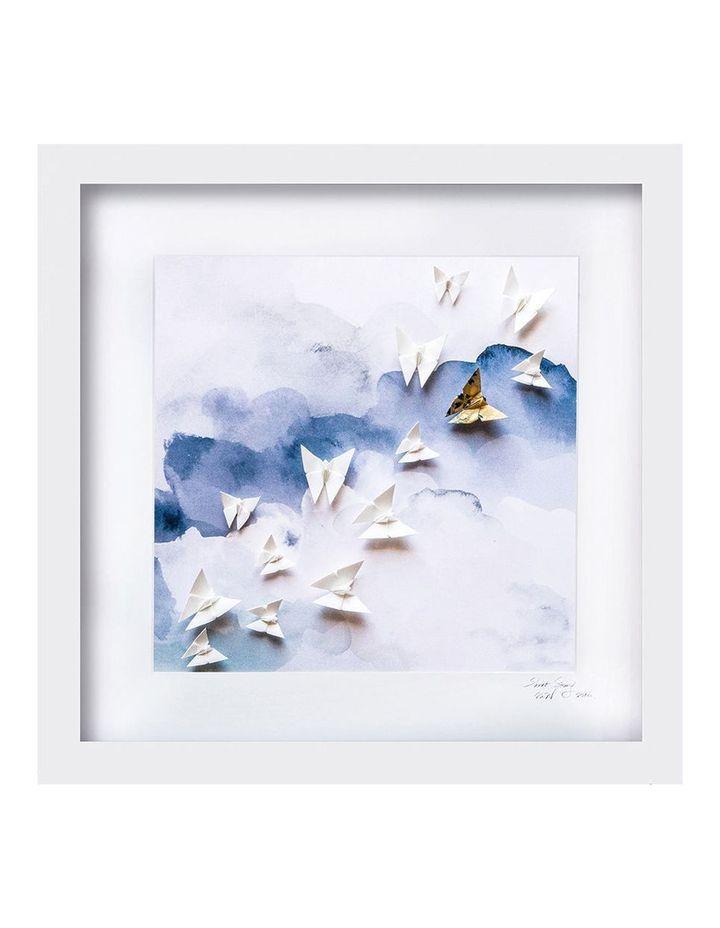 Sky Blue Large White Frame image 1