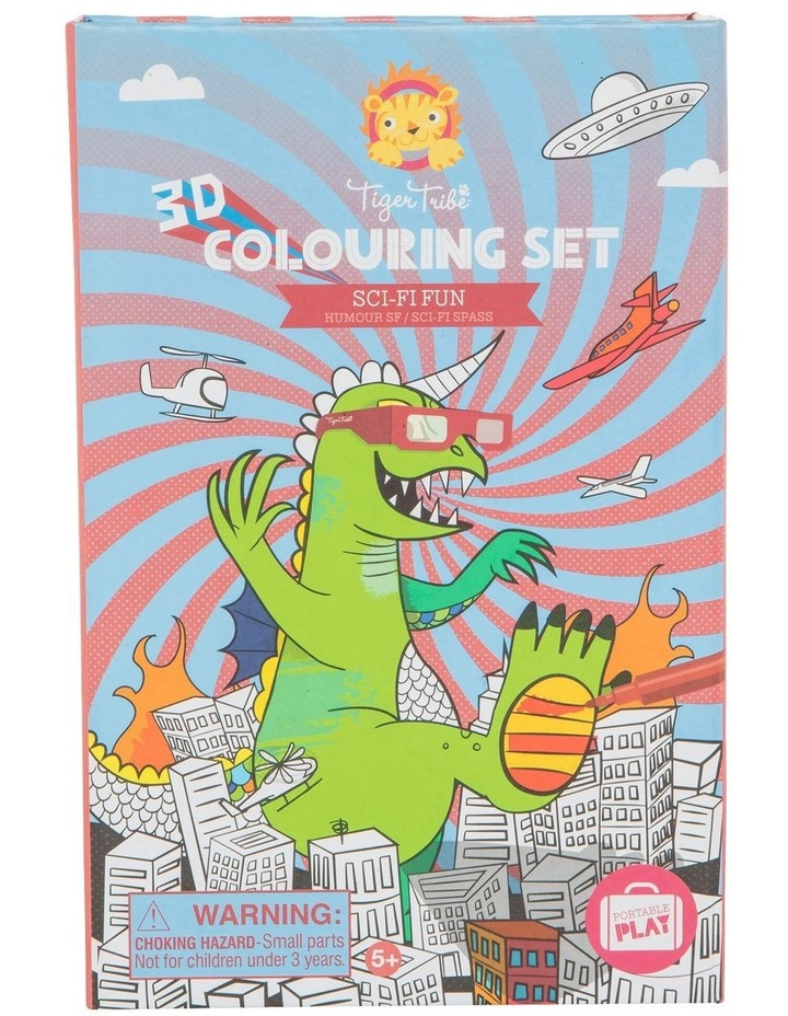 3D Colouring Set - Sci-Fi Fun image 1