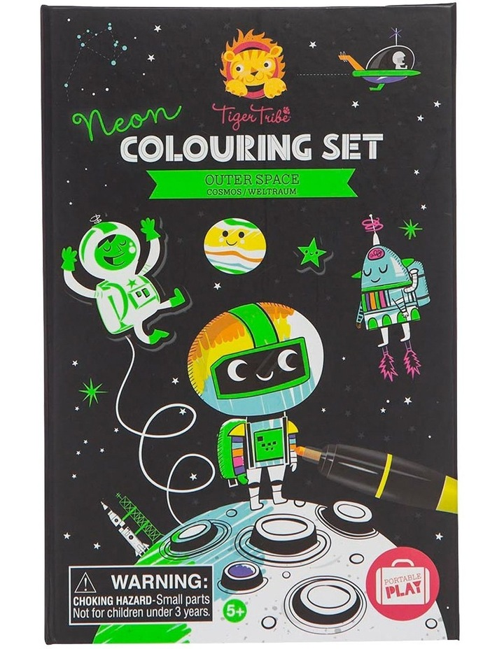 Neon Colouring Set - Outer Space image 1