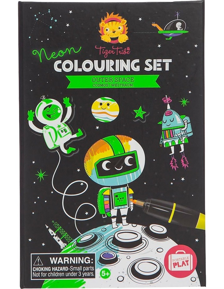 Neon Colouring Set - Outer Space image 2