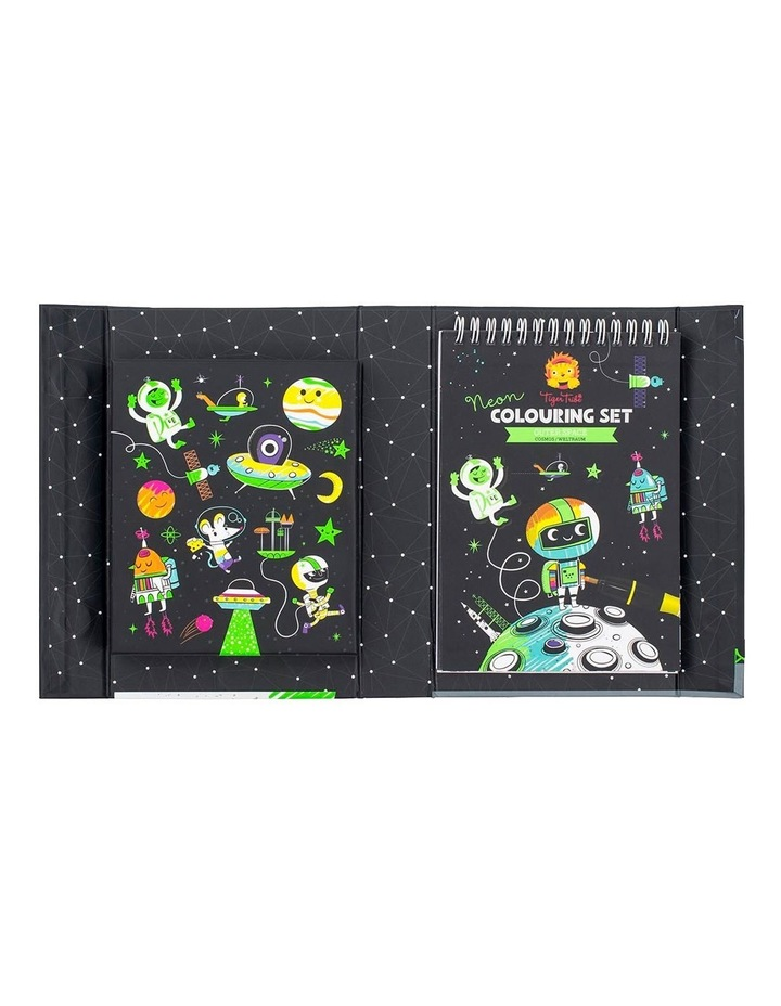 Neon Colouring Set - Outer Space image 3
