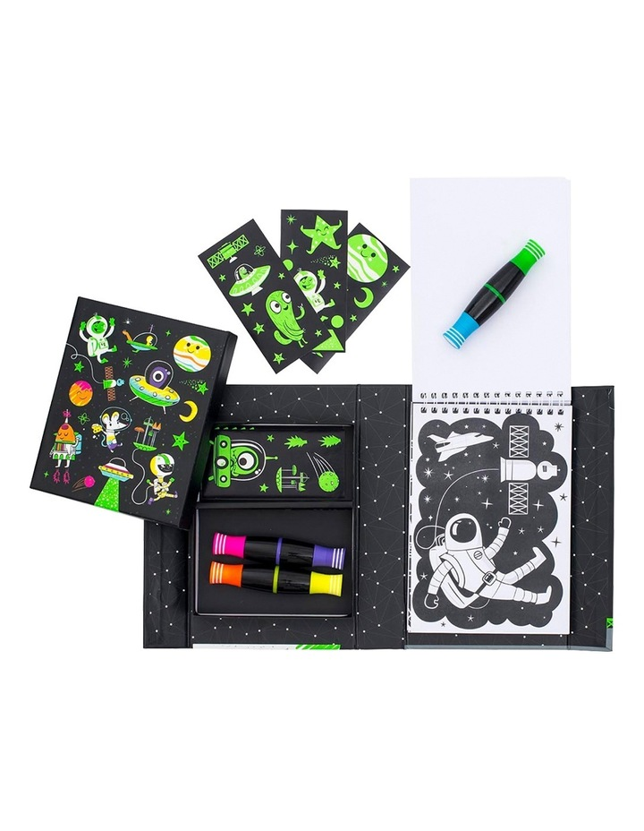 Neon Colouring Set - Outer Space image 6