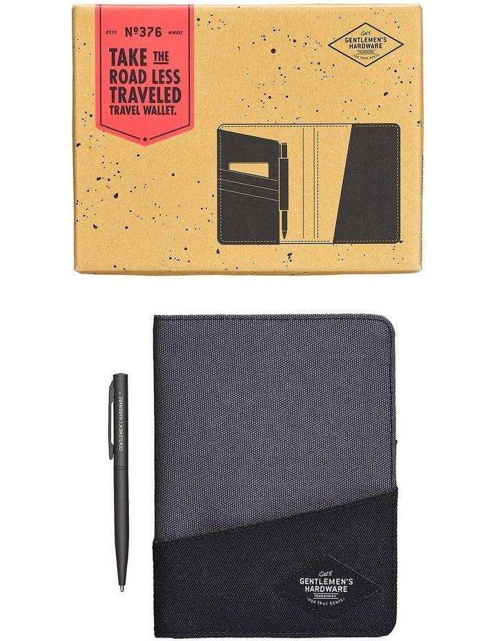 Travel Wallet Black & Grey image 1