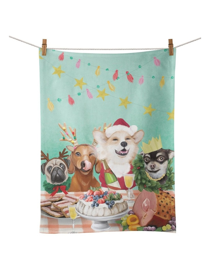 Canine Feast Tea Towel image 1
