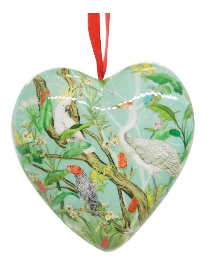 Australian Chinoiserie 3D Heart Bauble image 1
