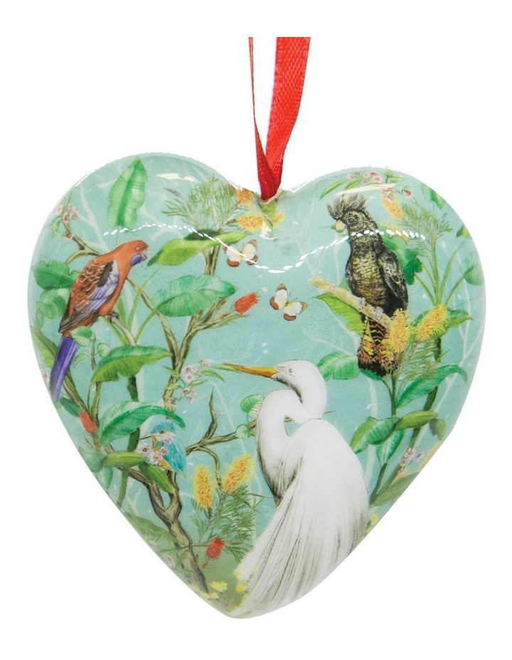Australian Chinoiserie 3D Heart Bauble image 2
