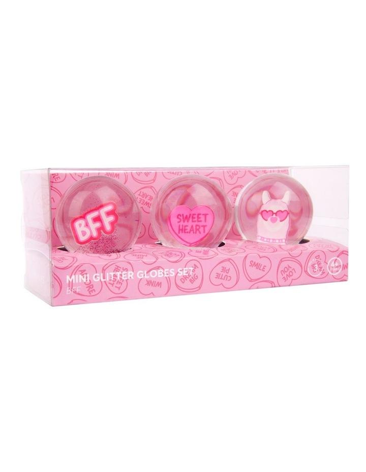 Glitter Mini Globes BFF Set of 3 image 3