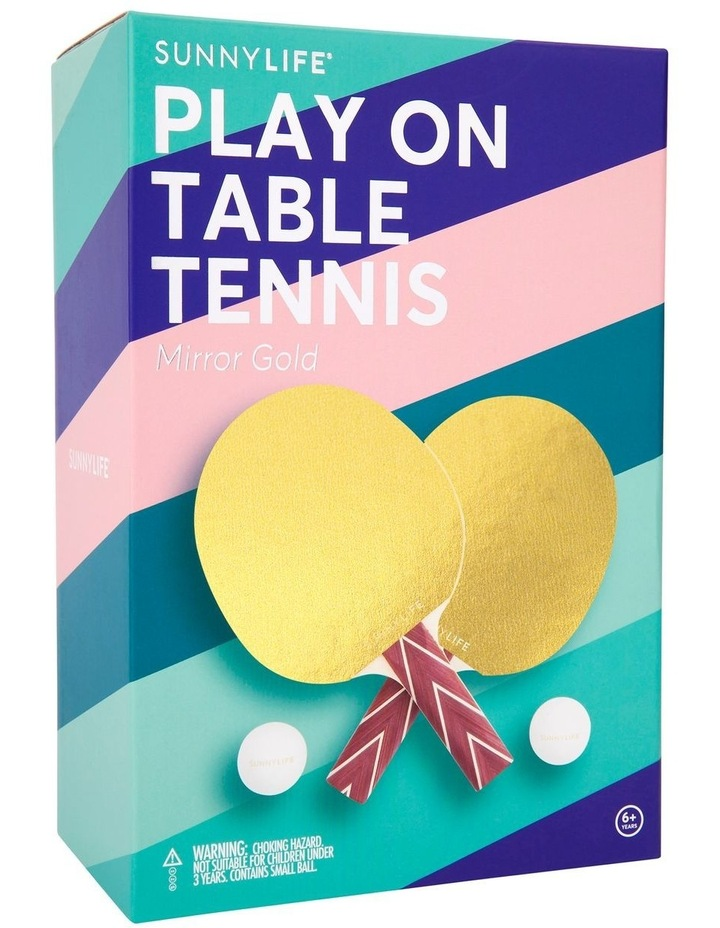 Play On Table Tennis Mirror Gold image 3