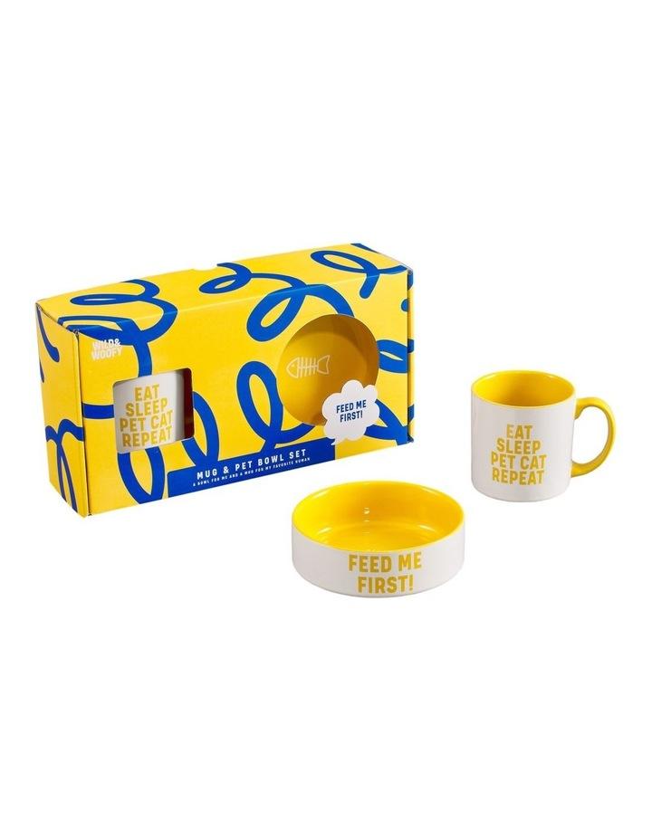 Mug And Pet Bowl Set - Cat image 2