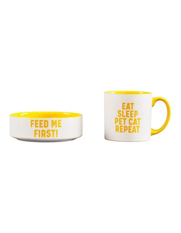 Mug And Pet Bowl Set - Cat image 3
