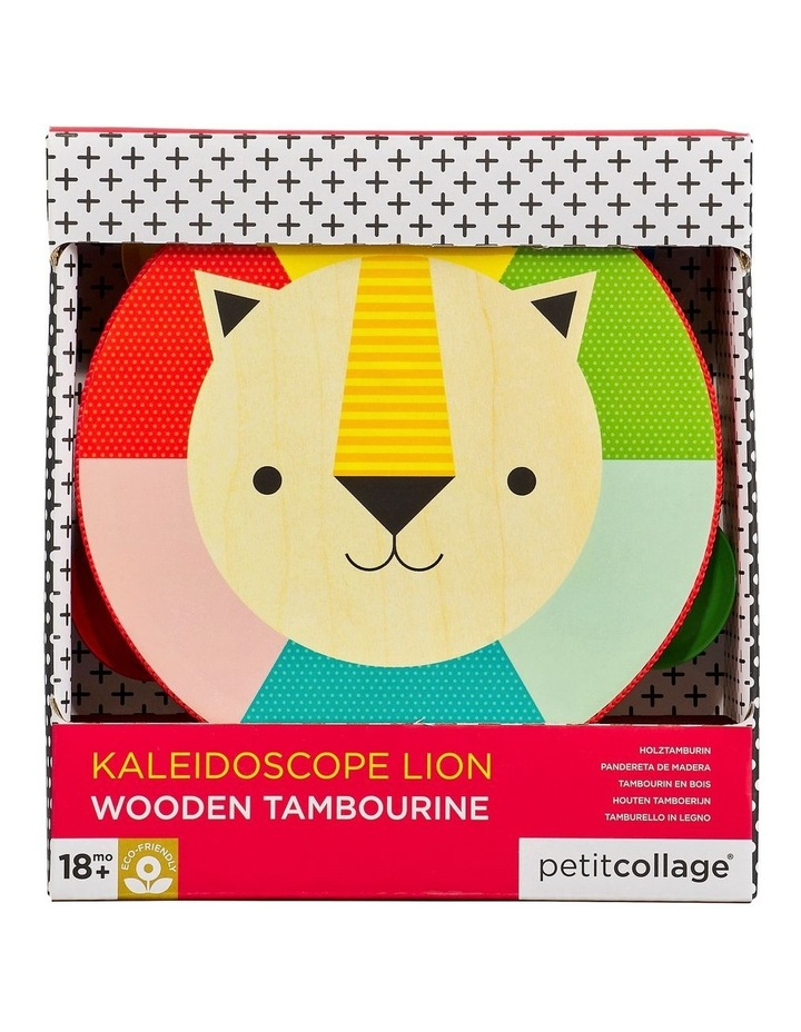Kaleidoscope Lion Wooden Tambourine image 1