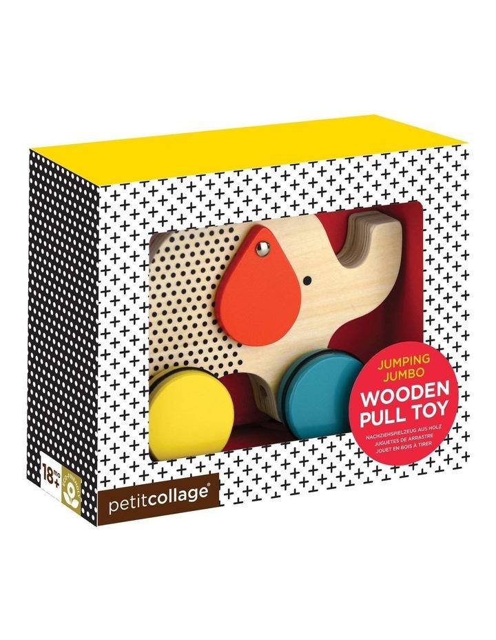 Jumping Jumbo Elephant Wood Pull Toy image 1