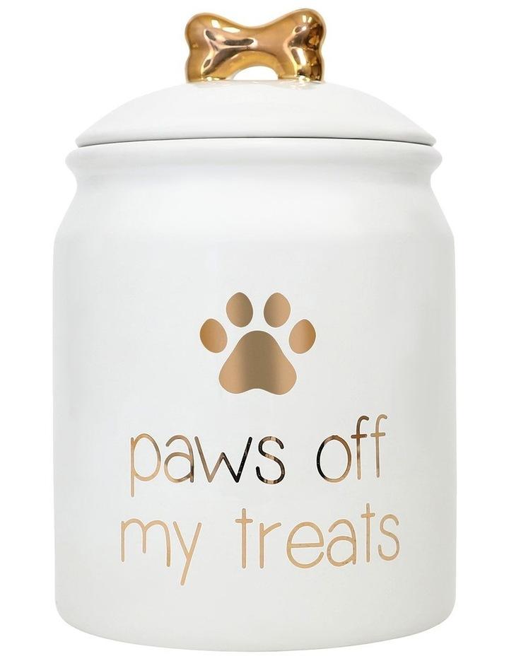 Pet Paws Off Treat Jar image 1