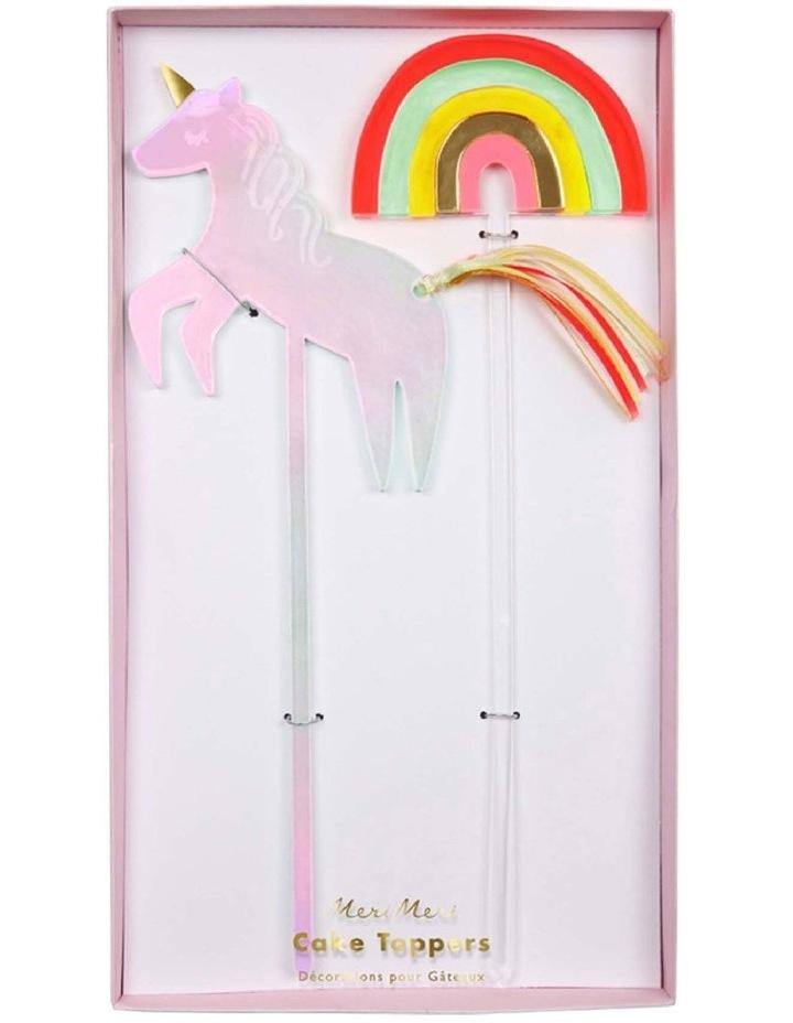 Unicorn and Rainbow Cake Topper image 1