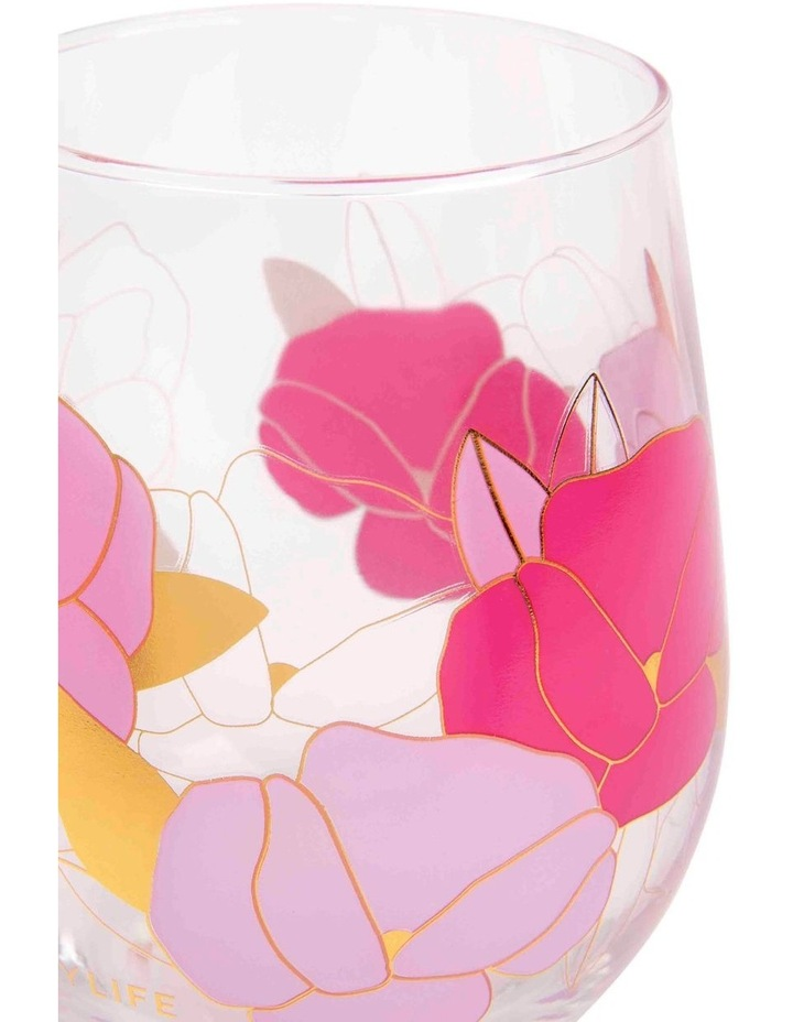 Stemless Cocktail Glasses Wild Posy Set of 2 image 2