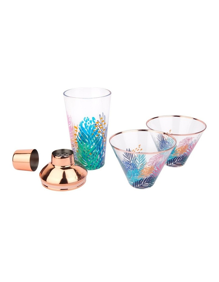 Luxe Shaker & Glass Set Electric Bloom image 2