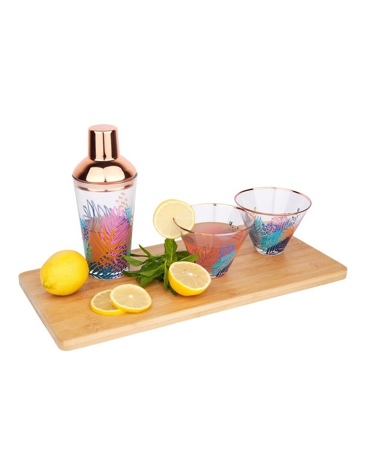 Luxe Shaker & Glass Set Electric Bloom image 3