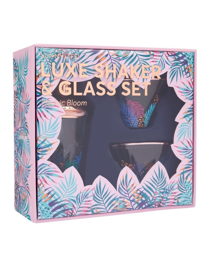 Luxe Shaker & Glass Set Electric Bloom image 4