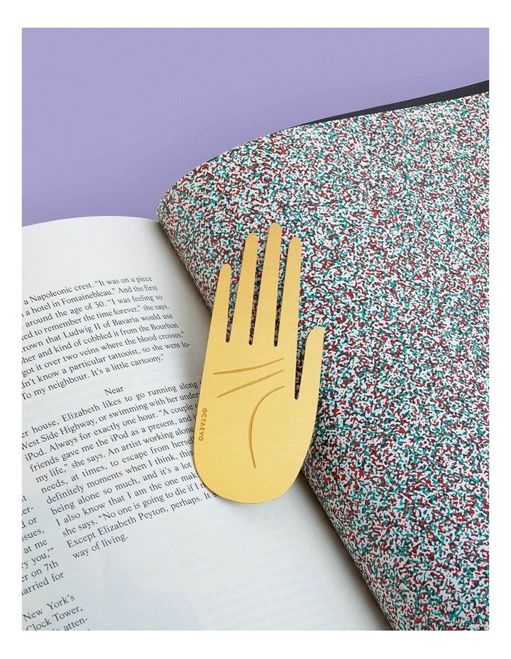 Brass Metal Bookmark - Hamsa image 3