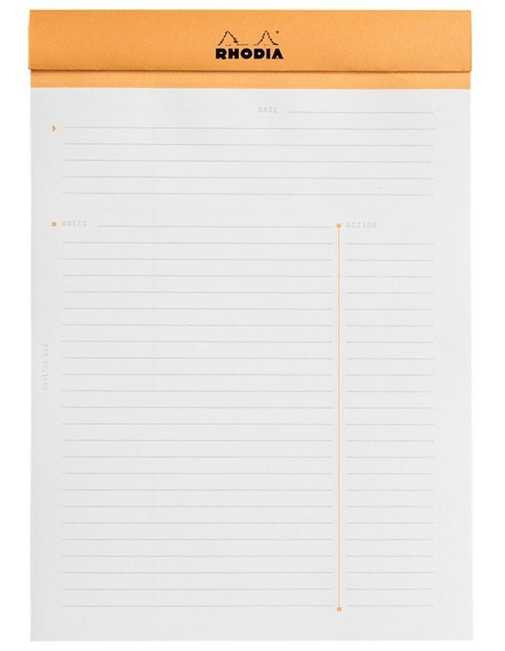 Meeting Notepad #16 - Ruled - A5 - Orange image 2