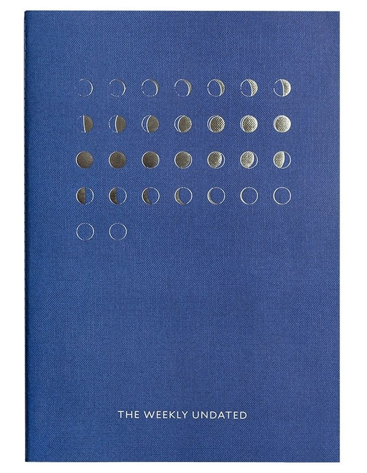 Organisation Notebook - The Weekly Undated - Blue image 2