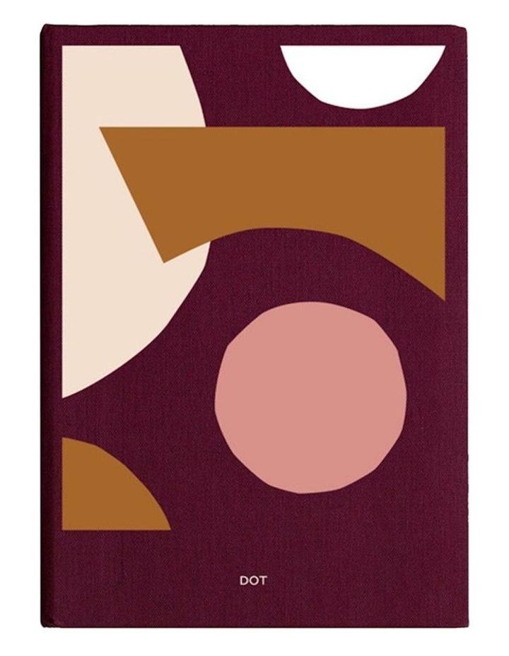 Spenceroni Soft Cover Linen Notebook - Dot Grid - A5 - Burgundy image 1