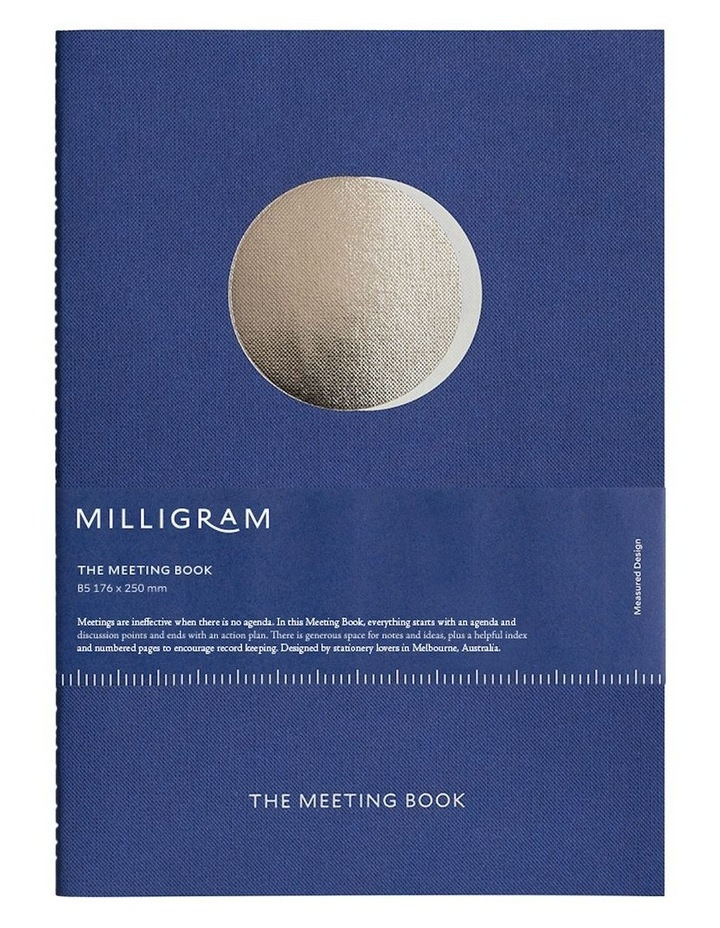 Organisation Notebook - The Meeting Book - Blue image 1
