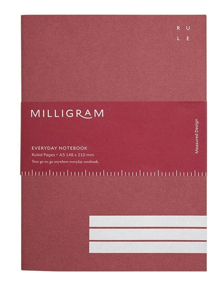 Everyday Notebook - Ruled - A5 - Burgundy image 1