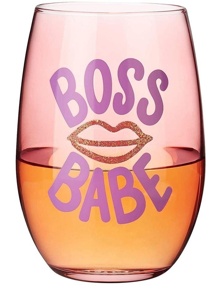 Boss Babe Stemless Wine Glass by Blush image 2