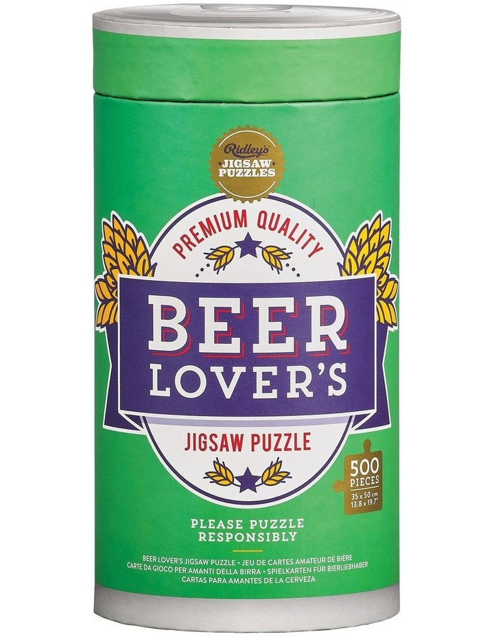 Beer Lover's 500 Piece Jigsaw Puzzle image 1
