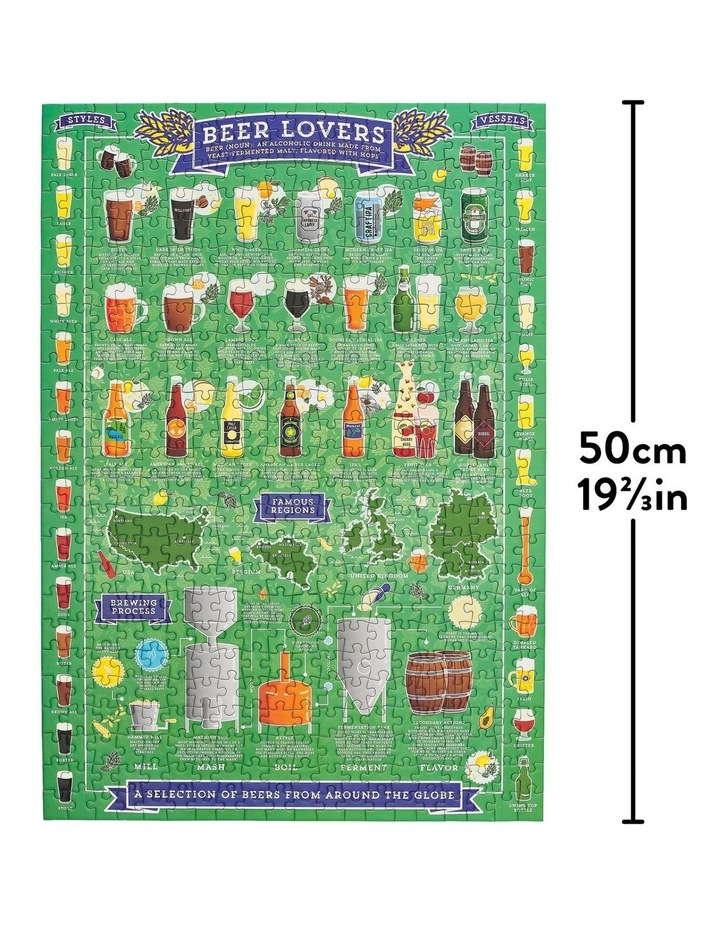Beer Lover's 500 Piece Jigsaw Puzzle image 2