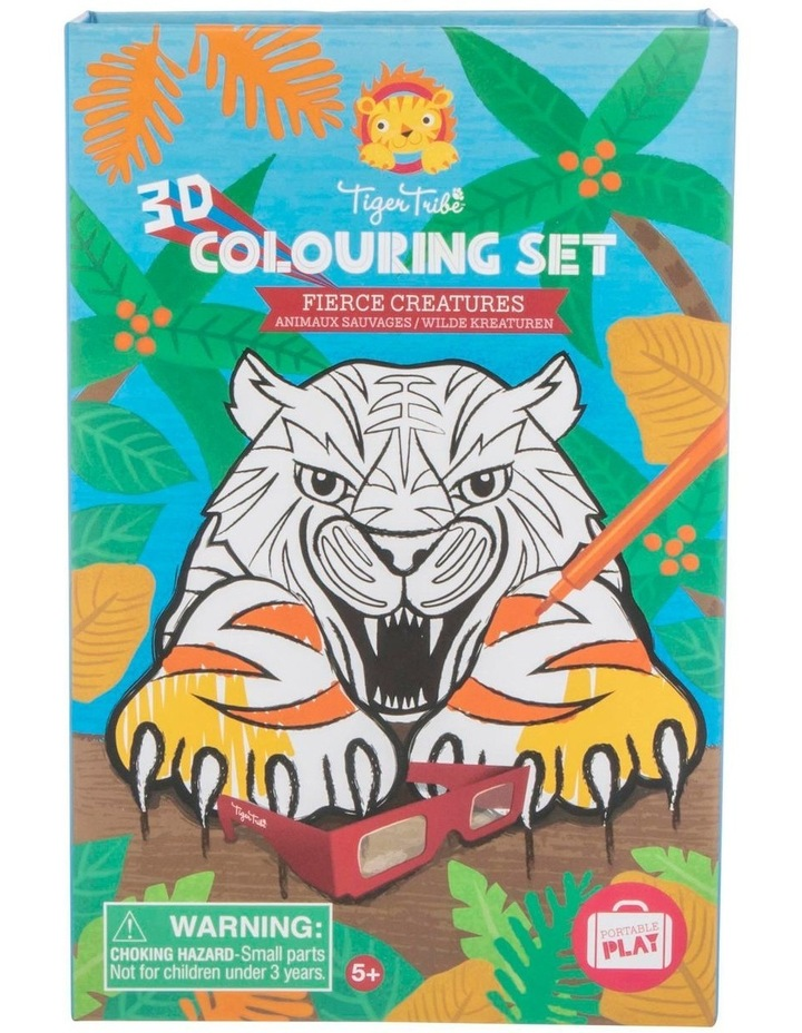 3D Colouring Set - Fierce Creatures image 1