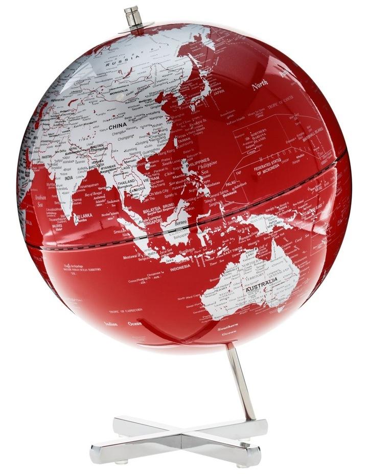 Contemporary World Globe X Base 30cm Red image 1