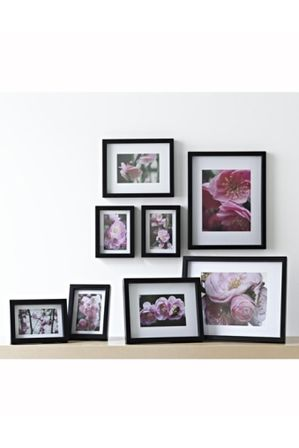 Vue Gallery 8 Pack Frame Set Black Myer Online