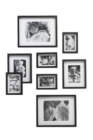 Vue | Gallery 8 Pack Frame Set Black | Myer Online