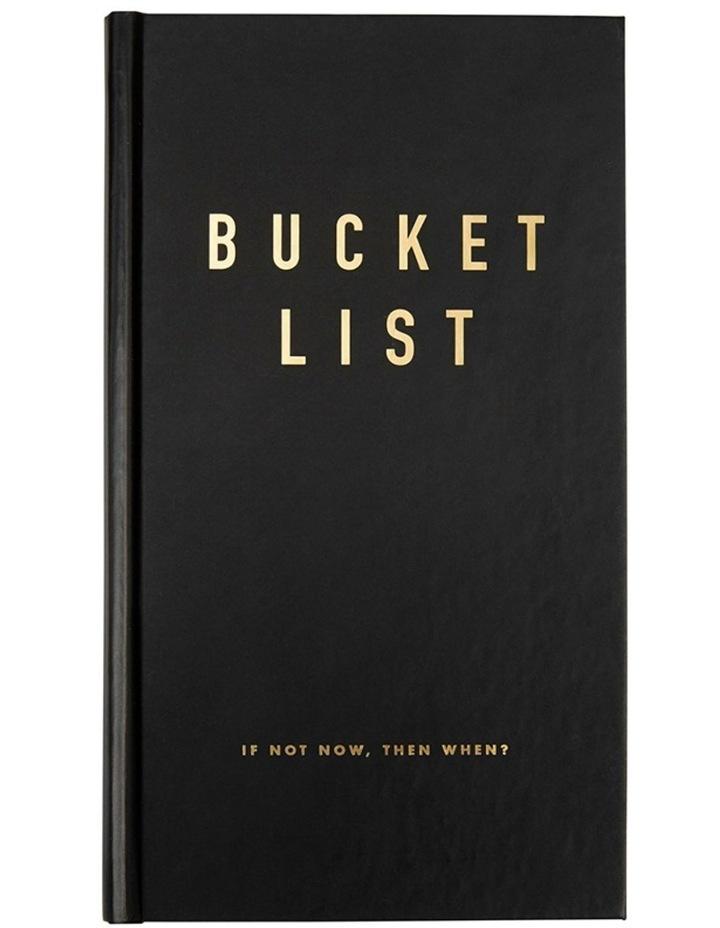 Life Essentials Bucket List Journal Black image 1