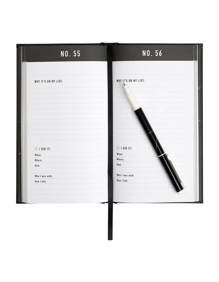 Life Essentials Bucket List Journal Black image 2
