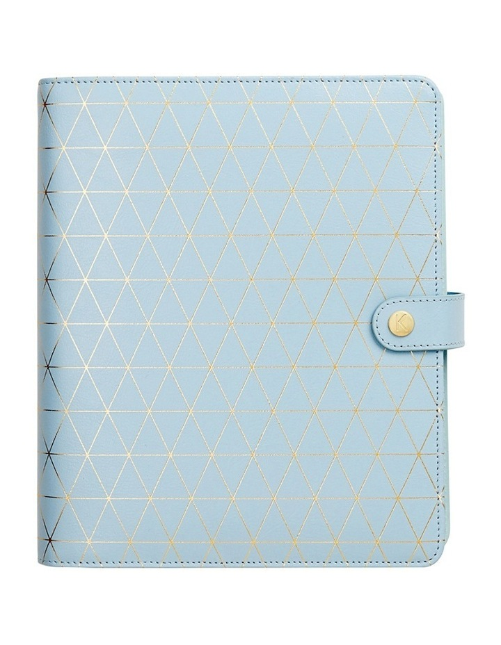 Inspiration Leather Wellness Planner Large Blue image 1