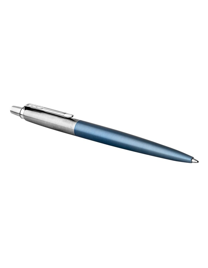 Parker Jotter Waterloo Blue Chrome Colour Trim Ballpoint Pen image 2