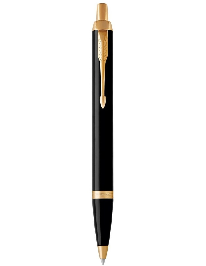 Parker IM Black Gold Finish Trim Ballpoint Pen image 1