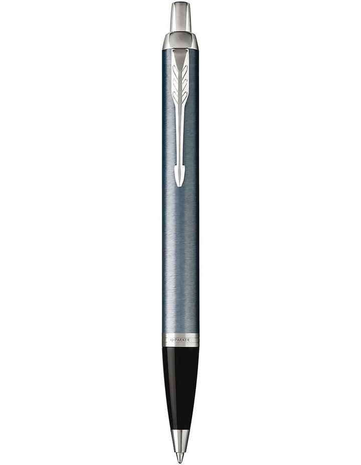 Parker IM Matte Blue Chrome Trim Ballpoint Pen image 1