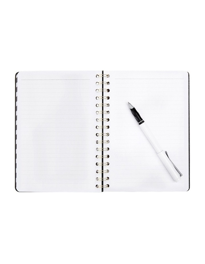 Essentials A5 Leather Spiral Notebook Jet Black image 2