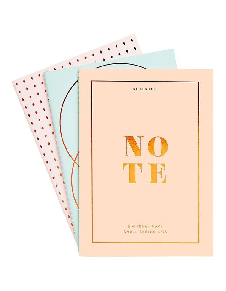 Energise Your Life A5 Essential Notebooks 3pk Energise image 1