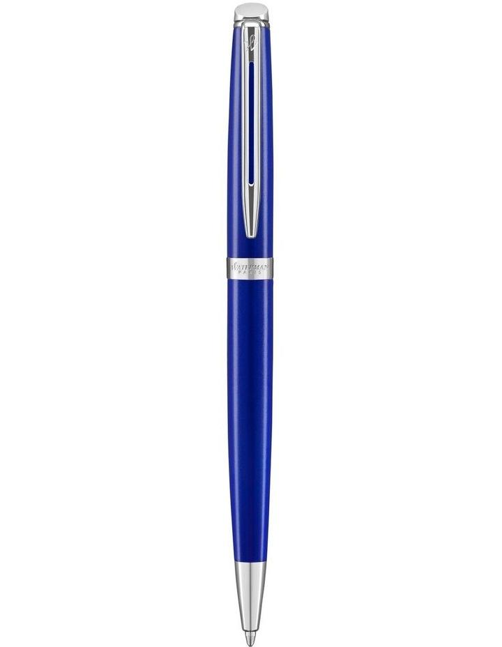 Waterman Hemisphere Bright Blue Palladium Trim Ballpoint Pen image 1