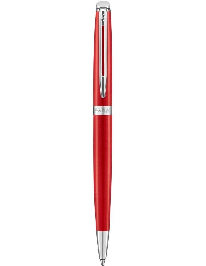 Waterman Hemisphere Red Comet Palladium Trim Ballpoint Pen image 1