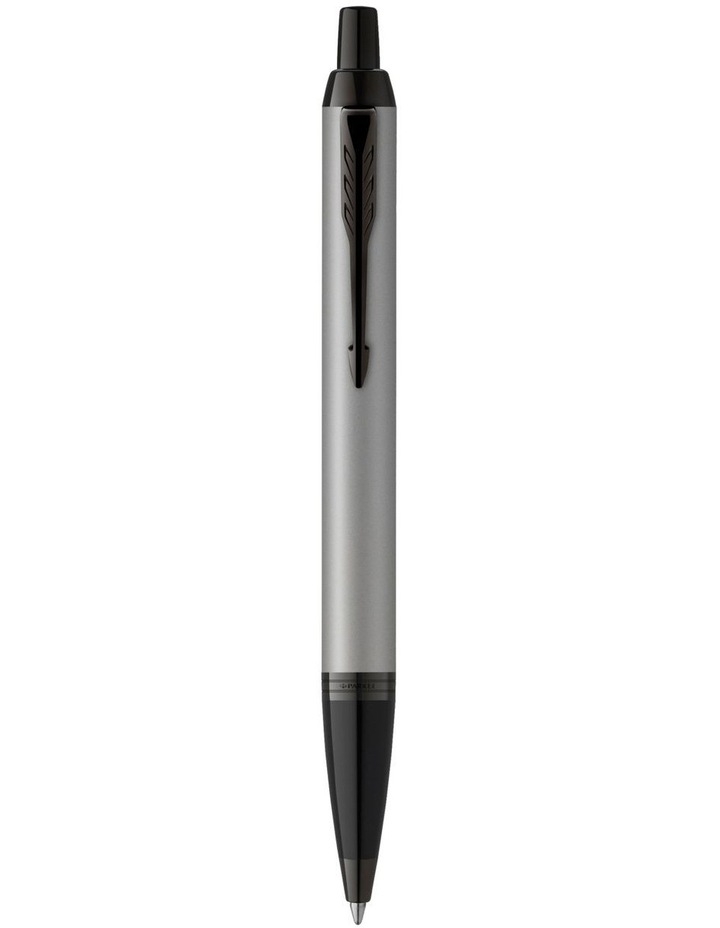 IM Matte Grey Black Trim Ballpoint Pen image 1